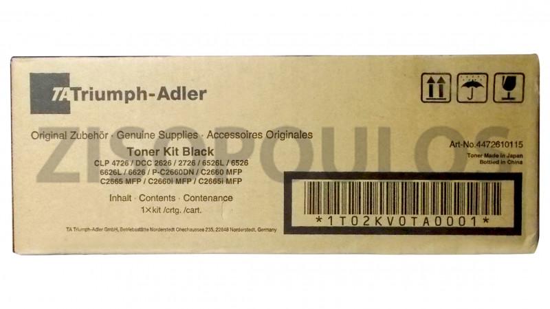 TRIUMPH ADLER TONER KIT CLP 4726/DCC 2626/2627/6526 BLACK 1T02KV0TA0