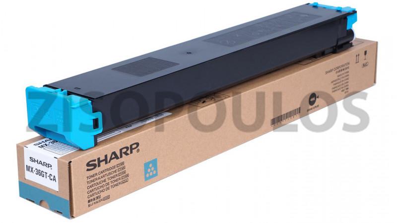 SHARP TONER CARTRIDGE MX-36GT-CA CYAN