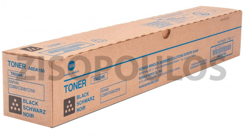 KONICA MINOLTA TONER TN 324 BLACK A8DA150