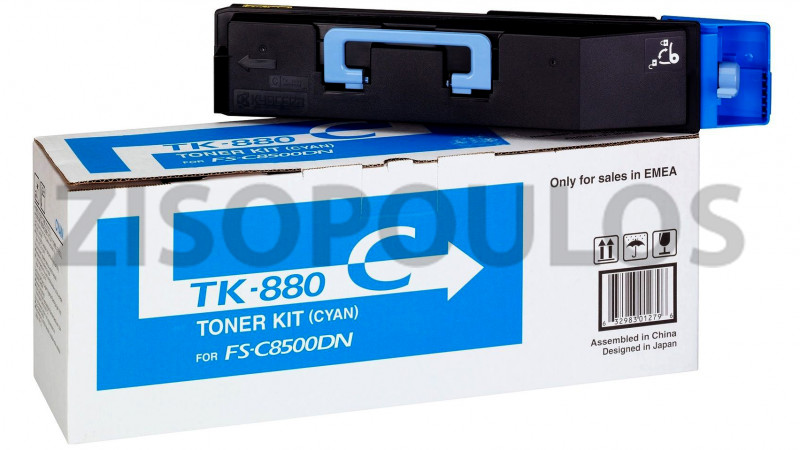 KYOCERA TONER CARTRIDGE TK 880 CYAN 1T02KACNL0