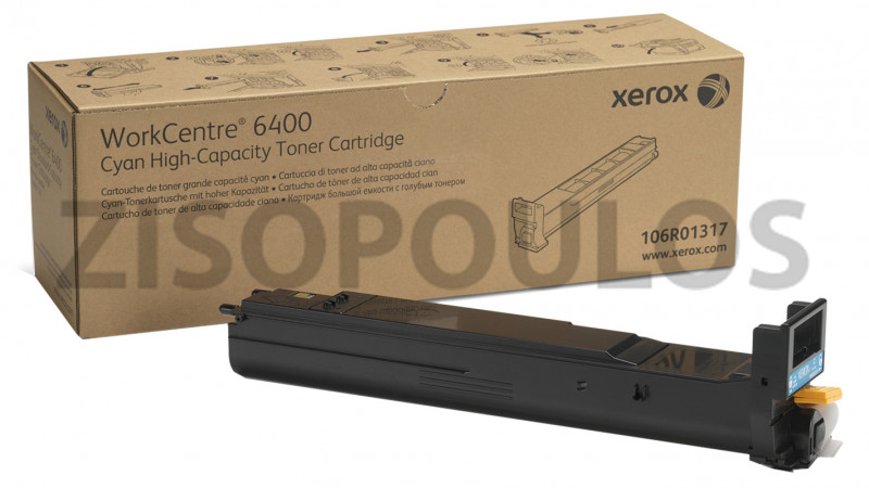 XEROX TONER CARTRIDGE HIGH CAPACITY 106R01317 CYAN