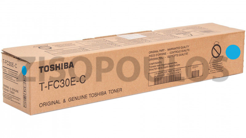TOSHIBA TONER TFC 30E CYAN 6AJ00000099