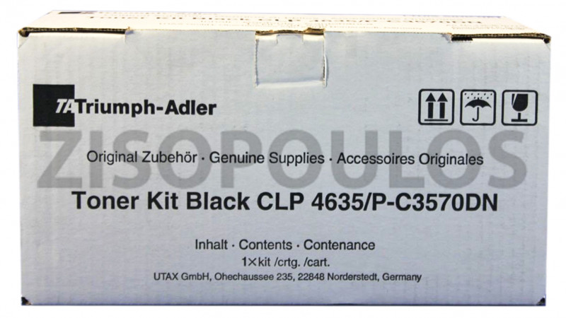 TRIUMPH ADLER TONER KIT CLP 4635 BLACK 4463510115