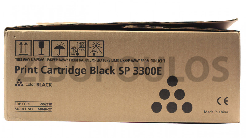 RICOH TONER CARTRIDGE  SP 3300 BLACK 406218