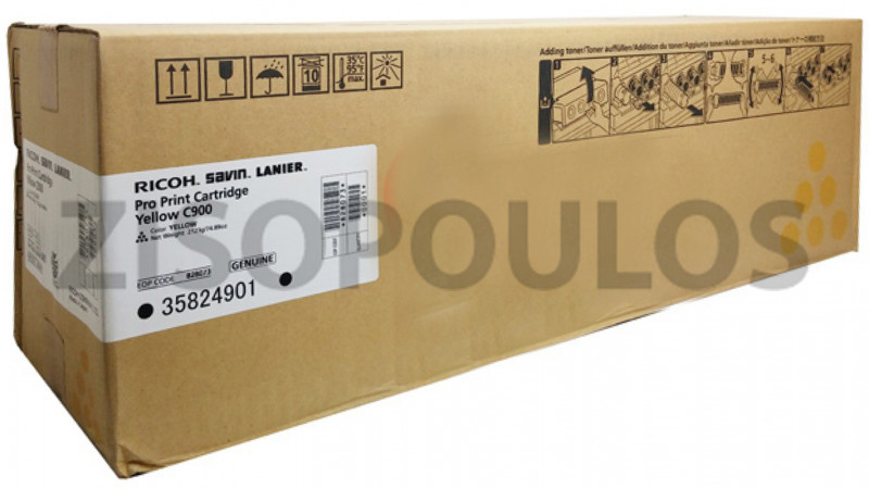 RICOH TONER  C900 PRO YELLOW 828041