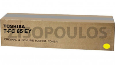 TOSHIBA  TONER CARTRIDGE TFC65EY YELLOW
