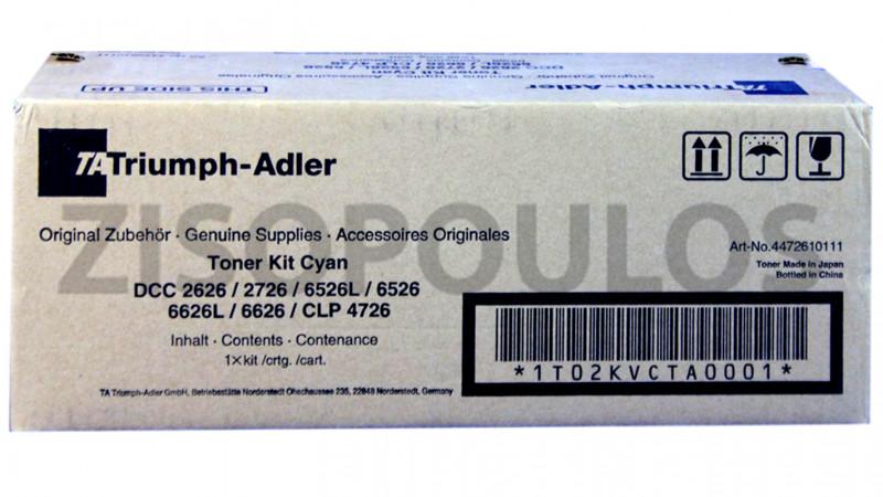 TRIUMPH ADLER TONER KIT CLP 4726/ DCC 2626/2627 CYAN 4472610111