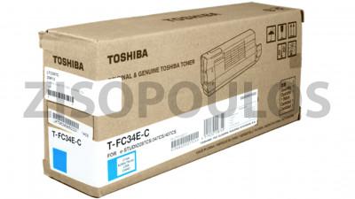 TOSHIBA  TONER T-FC34E-C CYAN 6A000001524
