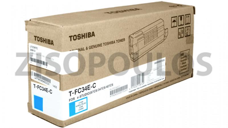TOSHIBA TONER TFC 34EC CYAN 6A000001524