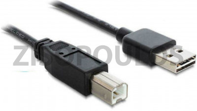 POWERTECH USB 2.0 CABLE USB-A MALE / USB-B MALE CABU090