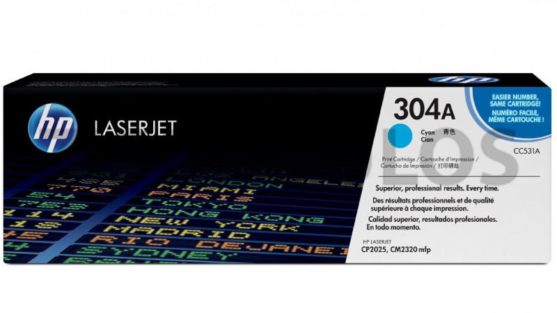 HP TONER 304A CYAN CC531A