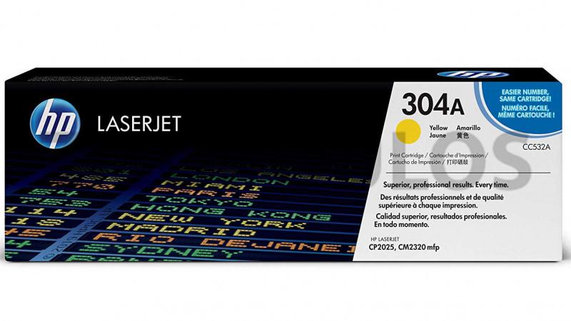 HP TONER 304A YELLOW CC532A