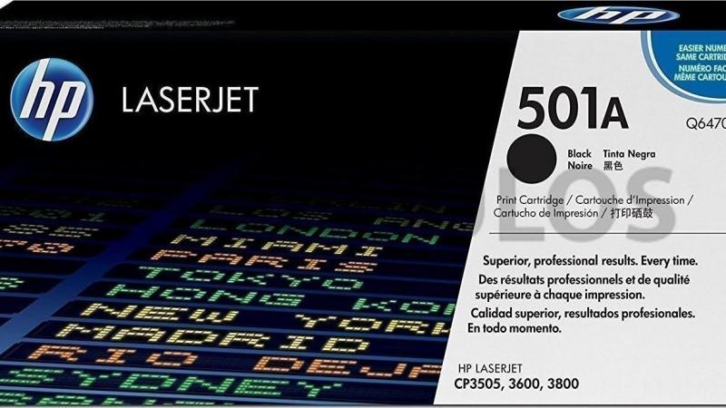 HP TONER 501A BLACK Q6470A