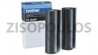 BROTHER  PC-102RF BLACK THERMAL TRANSFER RIBBON ΣΥΣΚ. 2 ΤΕΜ.