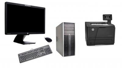 Back To School Προσφορά με Ανακατασκευασμένo Υπολογιστή HP + Οθόνη HP + Εκτυπωτή HP