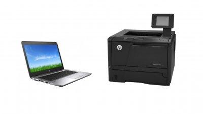 Λύση γραφείου HP EliteBook 840 G3 & HP LaserJet PRO M401dn