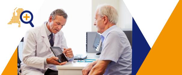 Arts en patiënt in gesprek