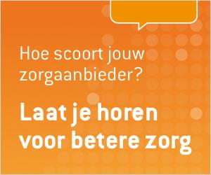 """Website banner """"Hoe scoort jouw zorgaanbieder?"""""""