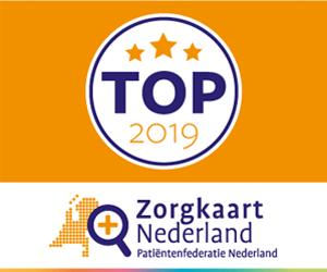 """Website banner """"Waarderingen verzamelen voor Top 2019"""""""
