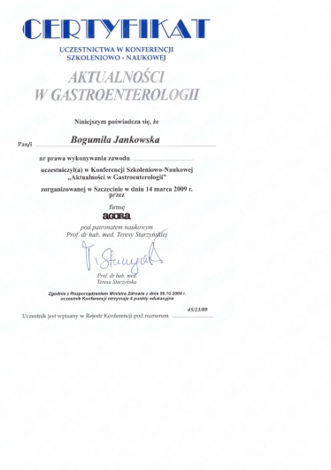 Bogumiła Jankowska - Multimedia