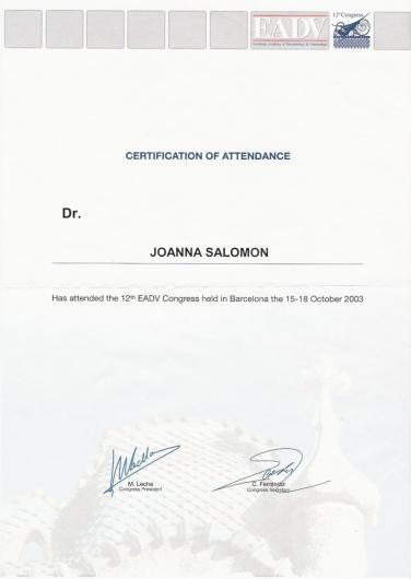 Dr hab. n. med. Joanna Salomon Umów wizytę online