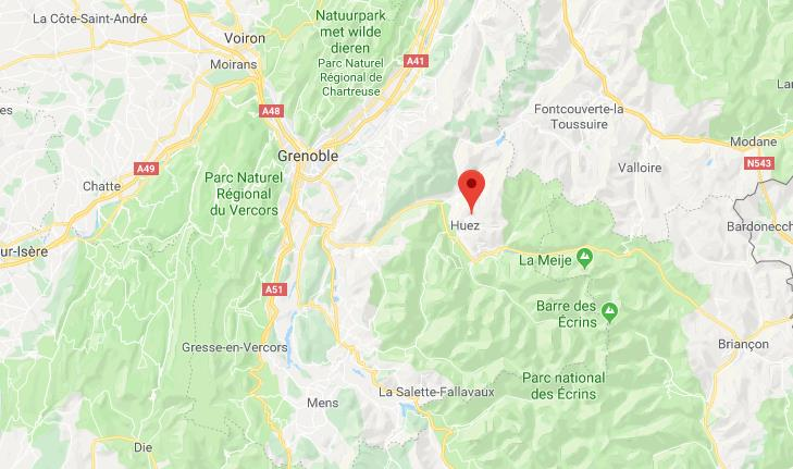 Alpe d'Huez-Grand Domaine Frankrijk op kaart Google Maps