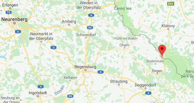 Bayerischen Wald Duitsland op kaart Google Maps