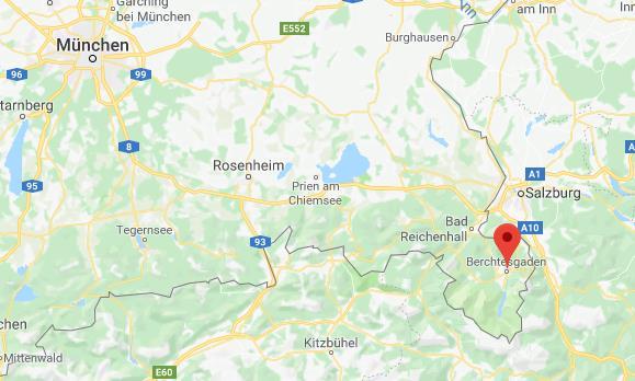 Bercjtesgadener Land Duitsland op kaart Google Maps