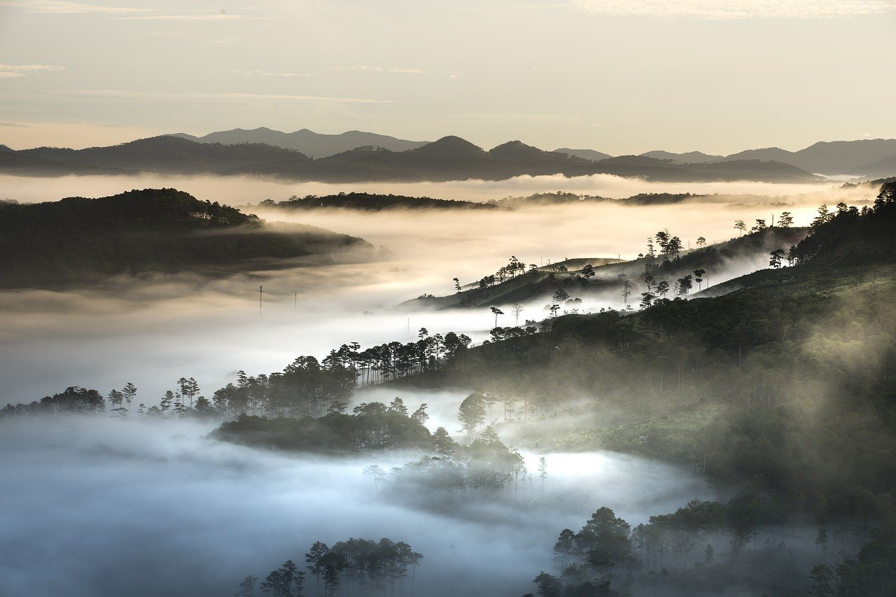 Uitzicht Da Lat Vietnam