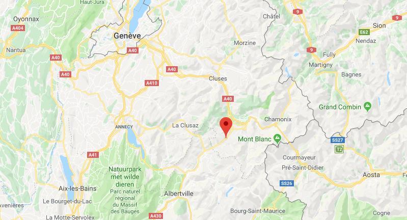 Evansion Mont-Blanc Frankrijk op kaart Google Maps