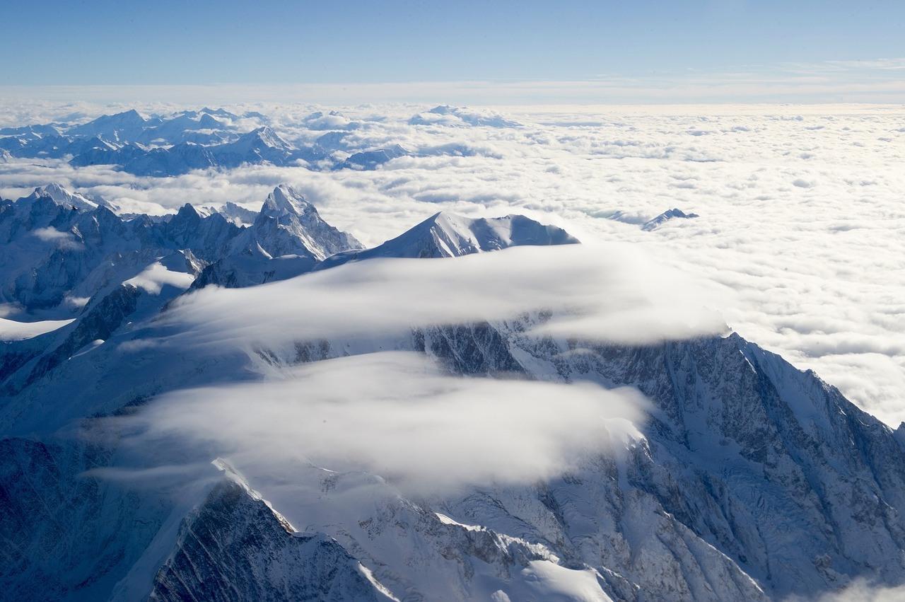 Wintersport Frankreich Berge Schnee