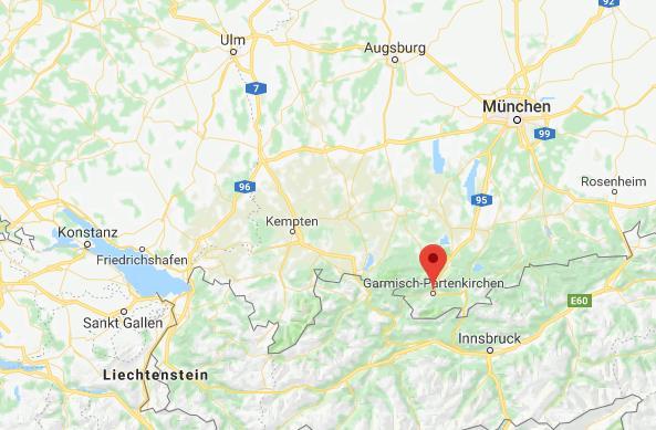 Garmisch classic Duitsland op kaart Google Maps