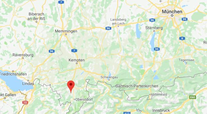 Hornerforfer Duitsland op kaart Google Maps