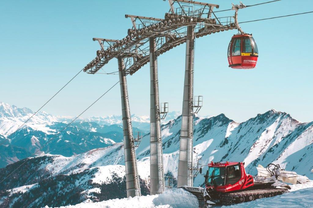 Kabelbaan Kaprun Oostenrijk sneeuw