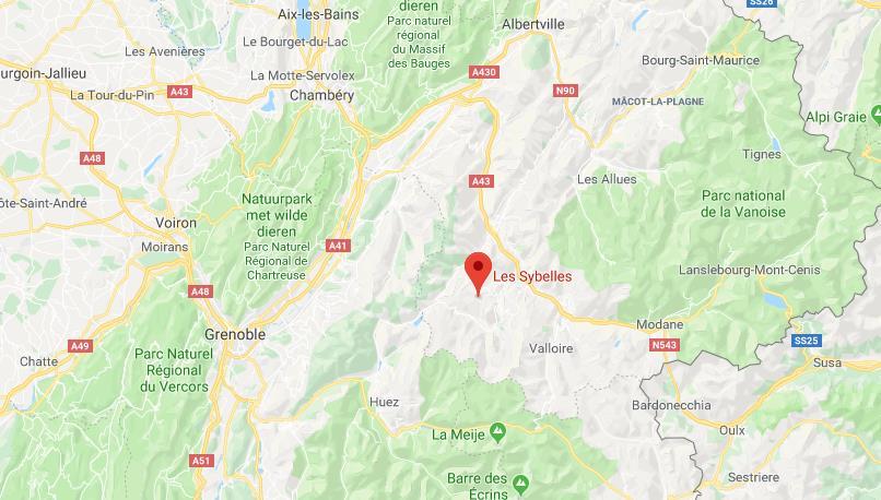 Les Sybelles Frankrijk op kaart Google Maps