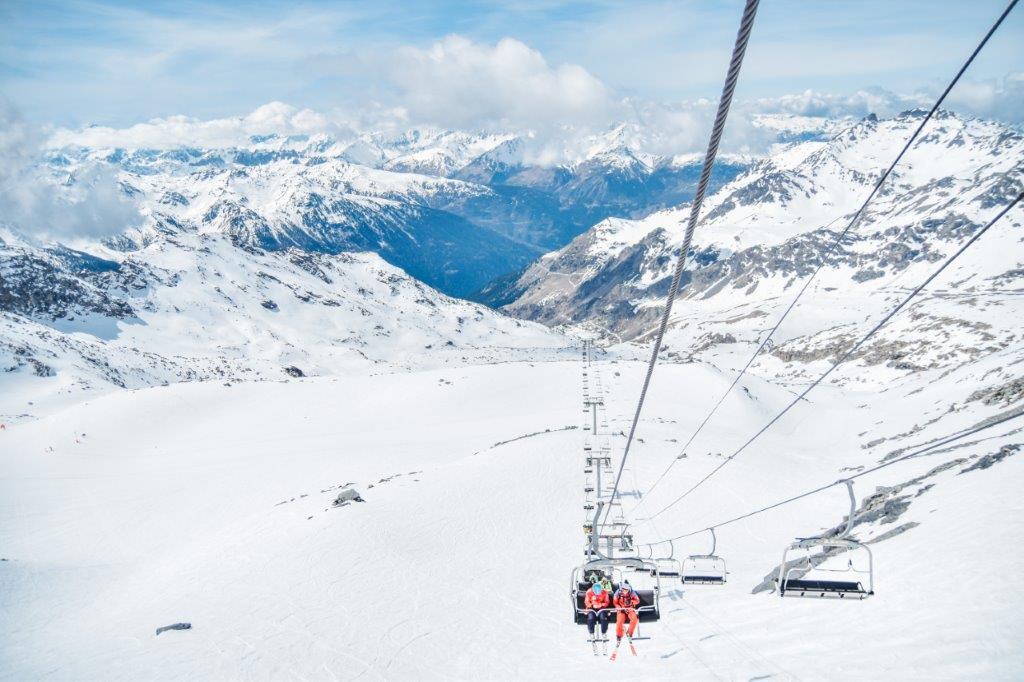Skilif Val Thorens Frankrijk sneeuw