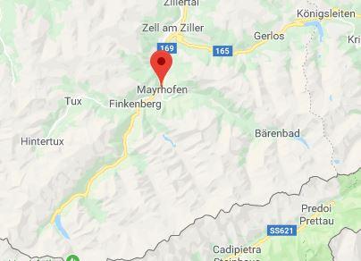 Mayrhofen op kaart Google Maps