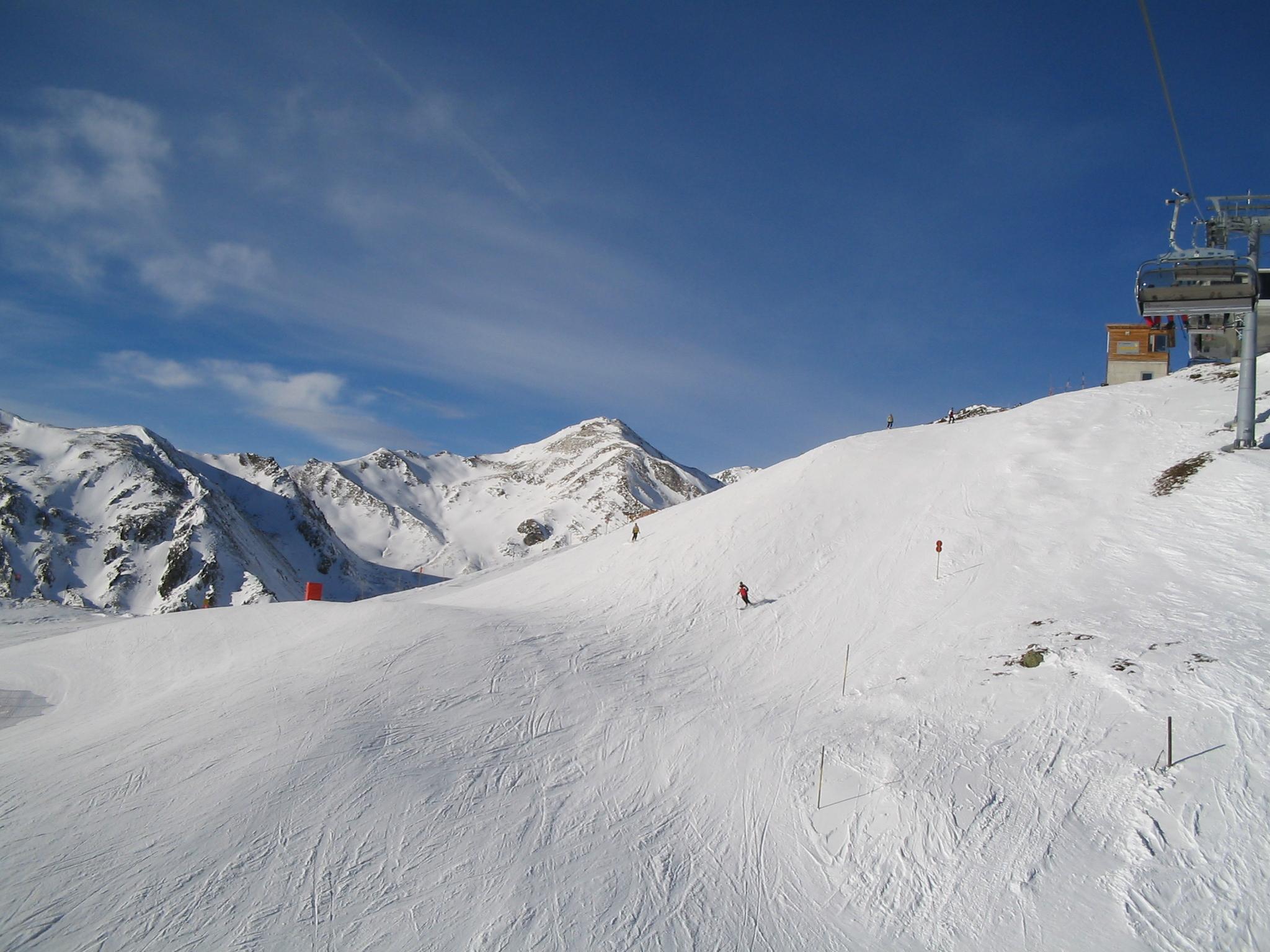 Mayrhofen Piste met sneeuw