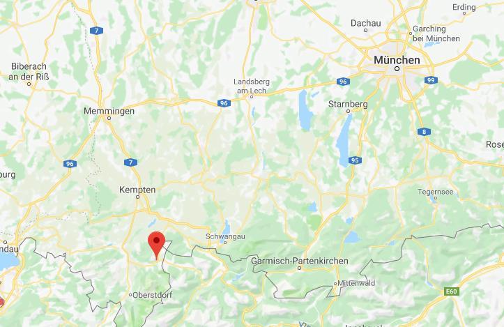 Oberjoch Duitsland op kaart Google Maps