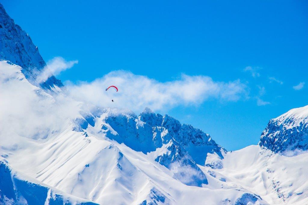 Les Deux Alpes uitzicht sneeuw bergen