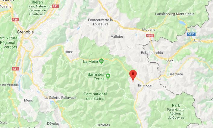 Serre Chevalier Frankrijk op kaart Google Maps