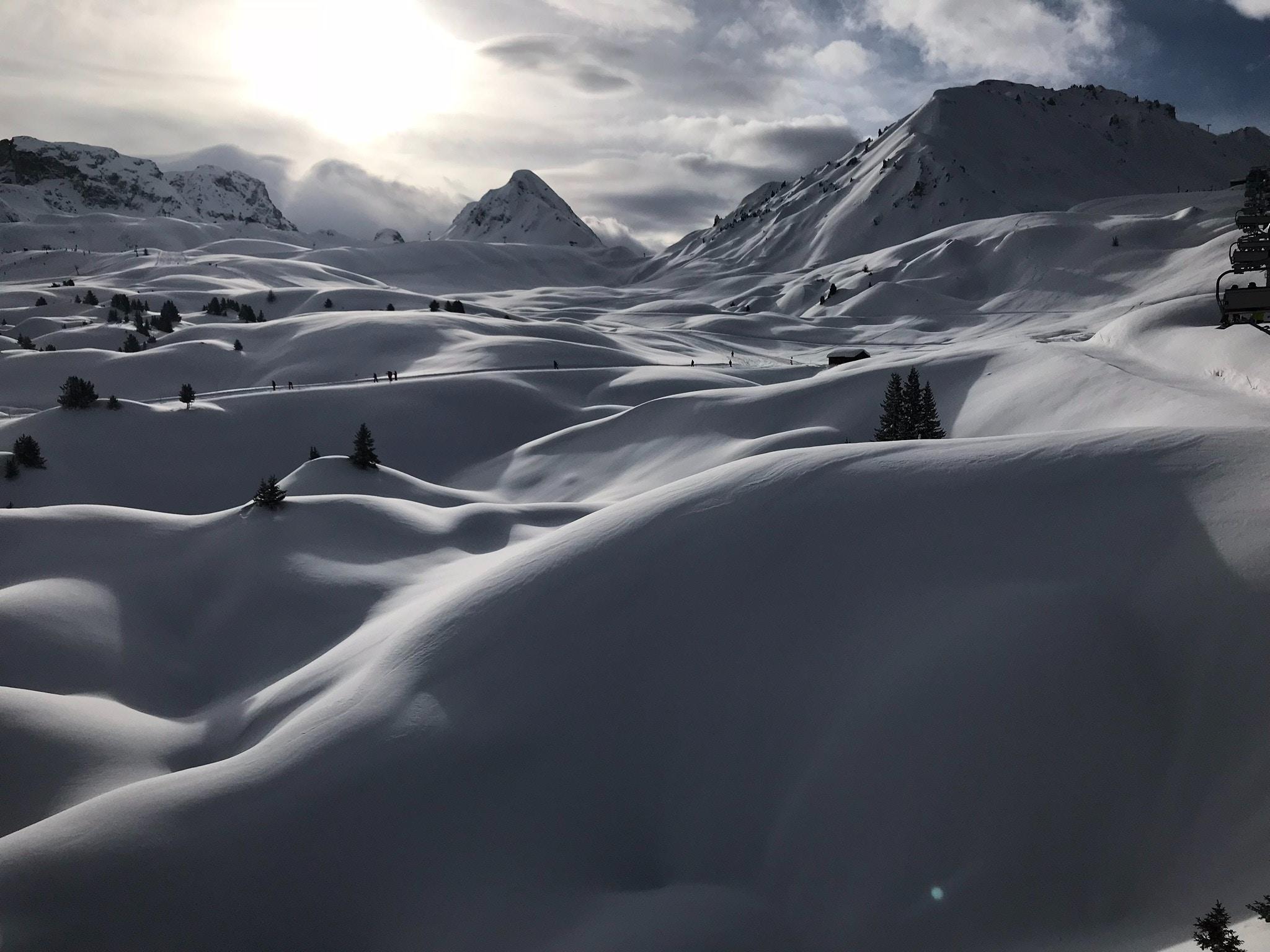La Plange Frankrijk bergen met sneeuw