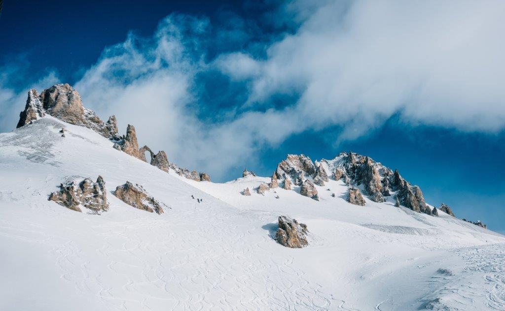 Tignes Frankrijk bergen met sneeuw