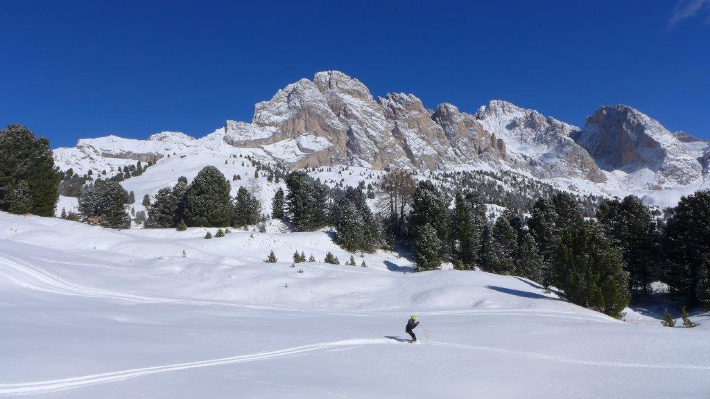 Val Gardena Italie uitzicht bergen sneeuw wintersport