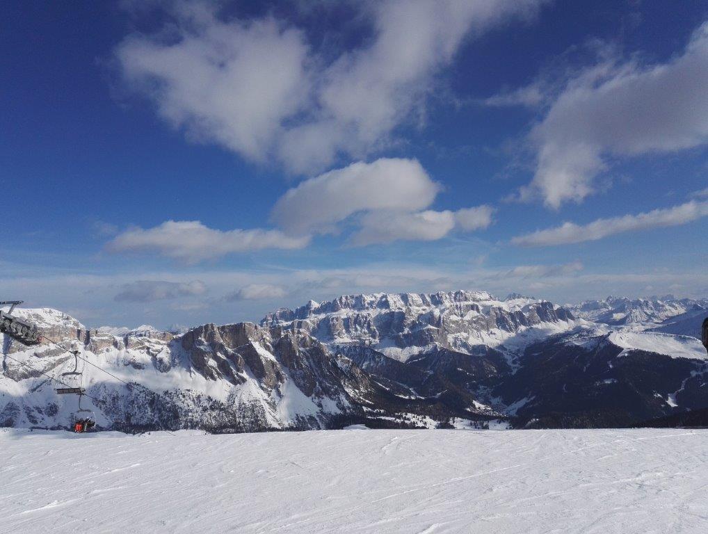 Val Gardena Italie uitzicht bergen sneeuw