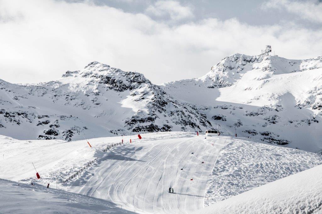 Val Thorens Frankrijk piste met sneeuw