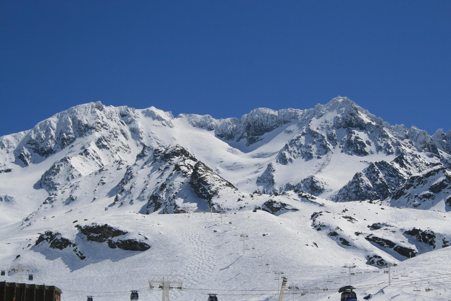 Val Thorens Frankrijk uitzicht sneeuw