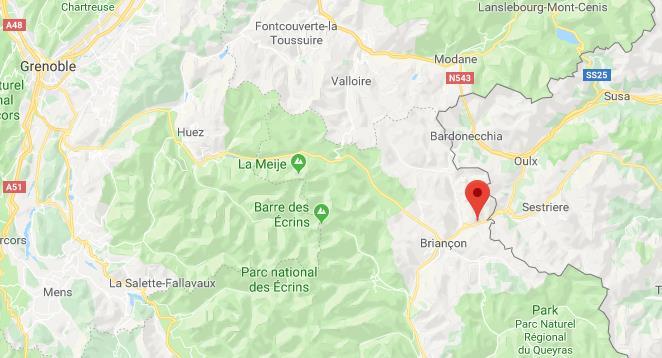 Via Lattea Frankrijk op kaart Google Maps