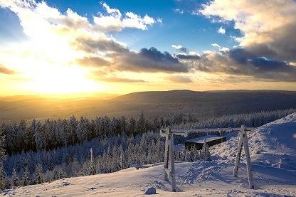 Wurmberg Duitsland sneeuw en bos