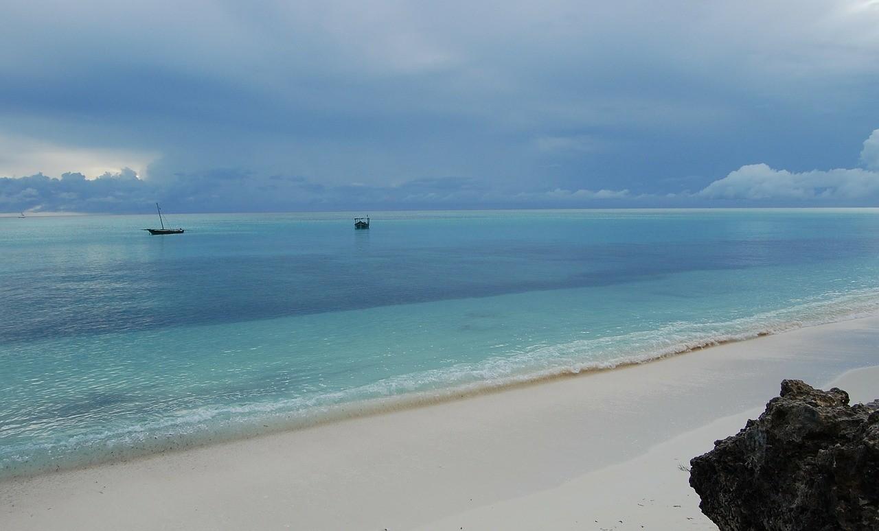 Zanzibar strand uitzicht
